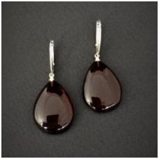 Cherry colour amber earings
