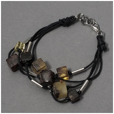 "Amber bracelet ""Squares"""