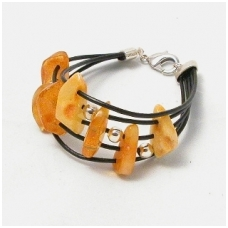 "Bracelet with amber ""Melody"" 3 units"