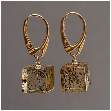 "Amber earings ""Square"""