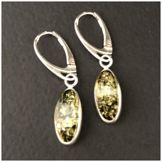 Earings from green amber