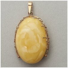 Amber and Gold pendant