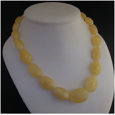 "Yellow amber necklace ""Olive"""