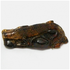 "Amber figurine ""Crocodile"""