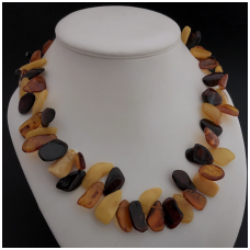 "Amber necklace ""Leaf"""