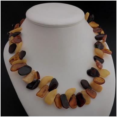 """Amber necklace """"Leaf"""""""