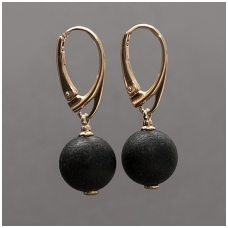 Black amber earings