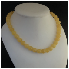 Amber necklace made from round beads