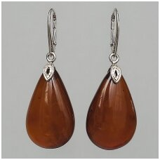 Cognac colour earings