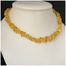 Free form amber necklace