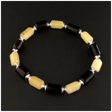 Multicolour unisex amber bracelet