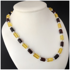 Colourful amber necklace