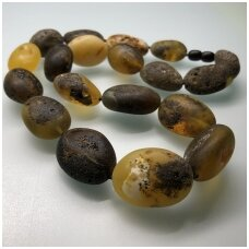 Natural dark amber necklace