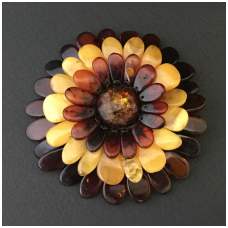 Brooch - pendant multicolour flower