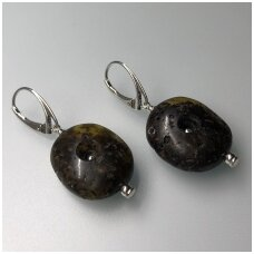 Dark amber earings