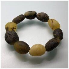 Natural dark amber bracelet