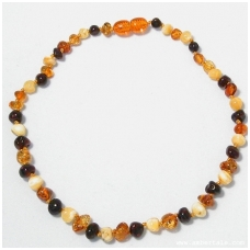 Amber necklace for children 5 units