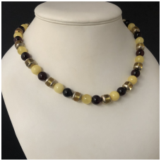 Cherry and yellow white amber necklace